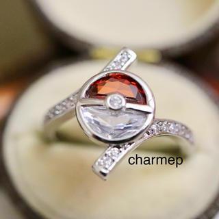 即購入OK●モンスターボールのようなリング指輪大きいサイズ(リング(指輪))
