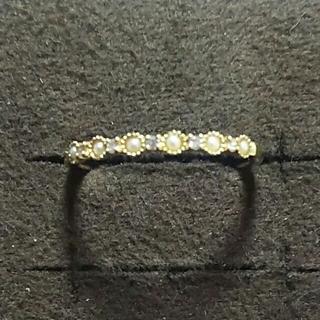 アガット(agete)のagete パールダイヤリング(リング(指輪))