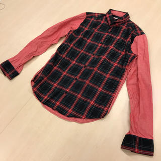 ヒロミチナカノ(HIROMICHI NAKANO)のヒロミチナカノ  タータンチェック柄 切り替えしシャツ クリスマスカラー(シャツ)