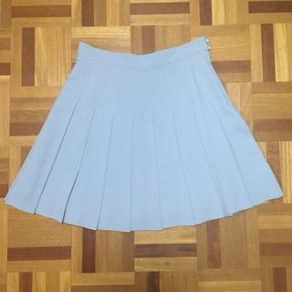 ローズバッド(ROSE BUD)のローズバッド  サックスブルー プリーツスカート ひざ丈 ROSE BUD(ミニスカート)