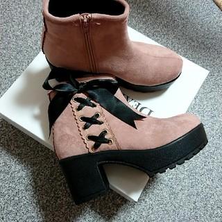ユメテンボウ(夢展望)の新品 リボン付き ブーツ (ブーツ)