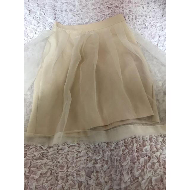 Honey Salon(ハニーサロン)のハニーサロン オーガンジースカート 新品未使用 レディースのスカート(ミニスカート)の商品写真