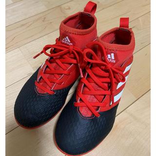 アディダス(adidas)のアディダス adidas フットサルシューズ 赤 19センチ ほぼ未使用(シューズ)