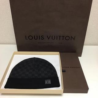 ルイヴィトン(LOUIS VUITTON)のルイヴィトン ニット帽 ダミエ(新品未使用)(ニット帽/ビーニー)
