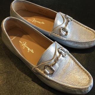 GINZA Kanematsu - 銀座かねまつ 37サイズ シルバー革靴 イタリア製🇮🇹