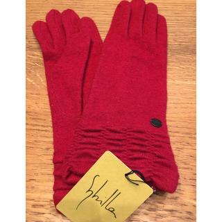 シビラ(Sybilla)のシビラ 手袋 赤 新品未使用(手袋)