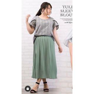 クレット(clette)の大きいサイズ プリーツスカート 4L 5L 新品未使用(ロングスカート)