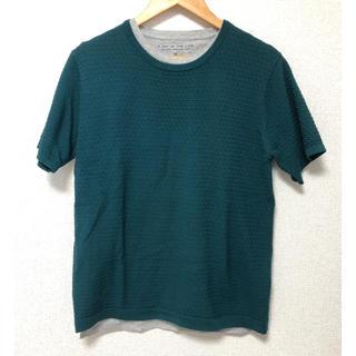 ユナイテッドアローズ(UNITED ARROWS)のUNITED ARROWS 深緑色 2枚重ね トップス(Tシャツ/カットソー(七分/長袖))