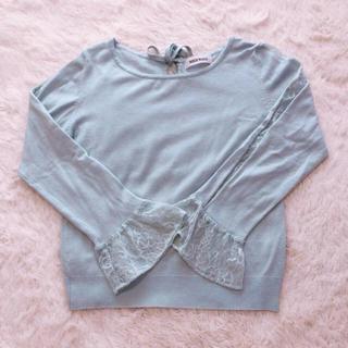 ミッシュマッシュ(MISCH MASCH)の袖レースニット(ニット/セーター)