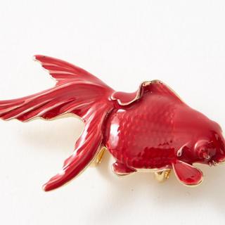 フリフ(ふりふ)の❤️ふりふ❤️帯留め❤️金魚ジュエリー❤️(和装小物)