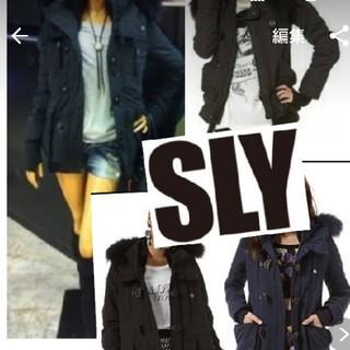 スライ(SLY)の美品  SLY  N3B? ジャンパー 黒 (モッズコート)