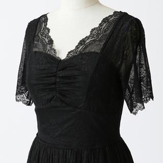 スナイデル(snidel)の新品 未使用 チュール ワンピース ドレス ブラック グレー オケージョン  (ロングドレス)