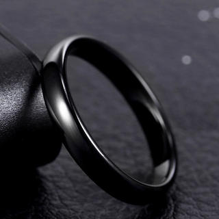 4mmラウンドリング ブラック 甲丸リング(リング(指輪))