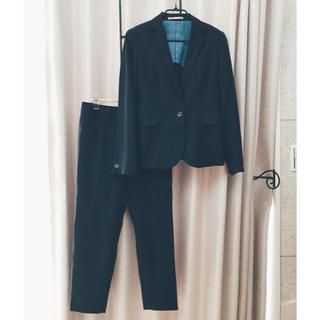 オリヒカ(ORIHICA)のFlower様 専用 オリヒカ ネイビー 紺色ストライプ スーツ 裏地有り 7号(スーツ)