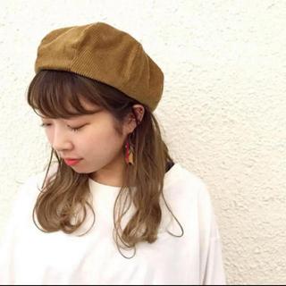 カスタネ(Kastane)のカスタネ ベージュ ベレー帽(ハンチング/ベレー帽)