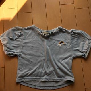 アースミュージックアンドエコロジー(earth music & ecology)のパフスリーブTシャツ 80cm(シャツ/カットソー)