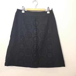 エル(ELLE)のELLE 花モチーフ刺繍スカート#Cattleya(ひざ丈スカート)