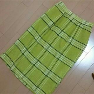 しまむら - しまむら チェック柄起毛Iラインスカート