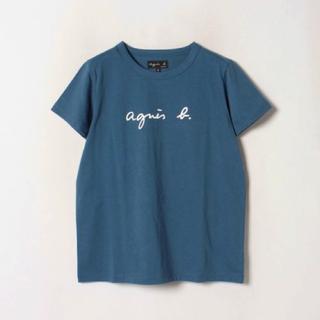 アニエスベー(agnes b.)のagnes b. homme ブルー Tシャツ ロゴT(Tシャツ/カットソー(半袖/袖なし))