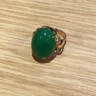 K18 緑石付き リング(95000485)(リング(指輪))