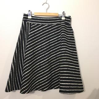 UNTITLED 斜めボーダースカート#Cattleya(ひざ丈スカート)