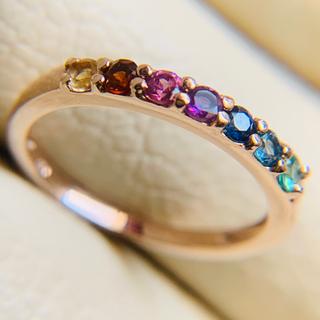 k10  イイ〜色の アミュレット レインボー お守り 願掛けに マルチカラー (リング(指輪))