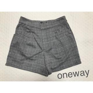 ワンウェイ(one*way)の美品★oneway チェックショートパンツ(ショートパンツ)