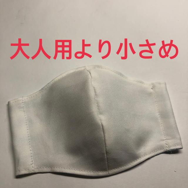 112★ハンドメイド ★大人用より小さめ・立体マスク★白の通販