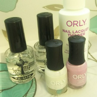 オーリー(ORLY)のセシェ・ヴィートトップコート、ORLYネイルカラー、ORLYうすめ液、5本セット(マニキュア)