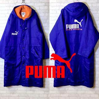 PUMA - 【PUMA】プーマ ベンチコートナイロンジャケット ブルー✖︎オレンジ Lサイズ