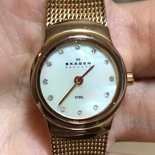 スカーゲン(SKAGEN)のSKAGEN  レディースウォッチ ピンクゴールド(腕時計)