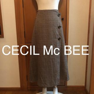 セシルマクビー(CECIL McBEE)のセシルマクビー CECIL Mc BEE ロングスカート 巻きスカート ブラウン(ロングスカート)