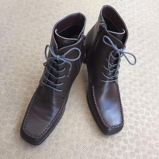 秋冬カラー 編み上げ ショートブーツ(ブーツ)