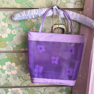 ロキエ(Lochie)の🔻vintage sheer flower bag(ハンドバッグ)