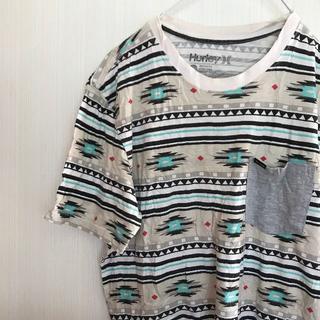 Hurley - アメリカ古着! Tシャツ S Hurley ハーレー 白 柄 [240]
