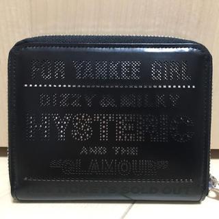 ヒステリックグラマー(HYSTERIC GLAMOUR)のhystericglamour porter  ポーター 黒 ブラック コラボ(折り財布)