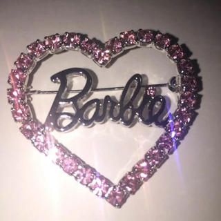 Barbie - ★Barbie★ バービー キラキラ ブローチ ピンク 正規品