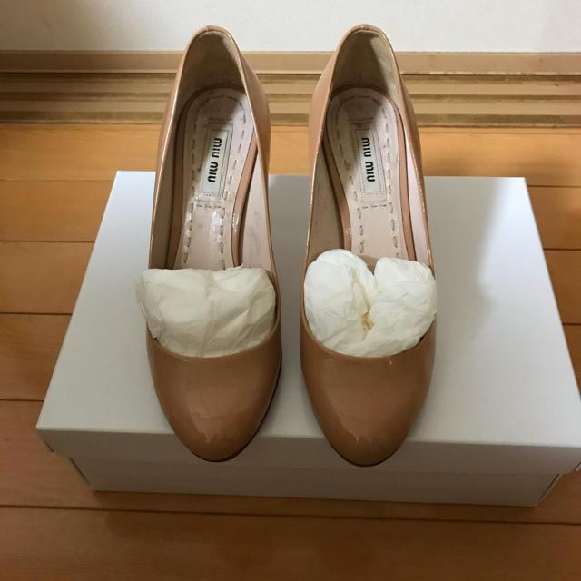 miumiu(ミュウミュウ)のMIUMIU エナメルパンプス レディースの靴/シューズ(ハイヒール/パンプス)の商品写真