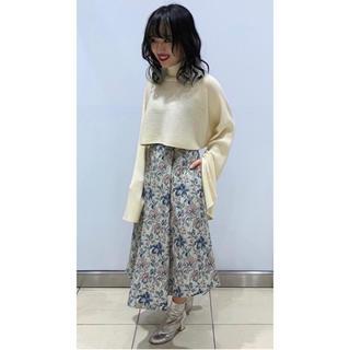 ルシェルブルー(LE CIEL BLEU)のFloral Jacquard A-Line Skirt(ひざ丈スカート)