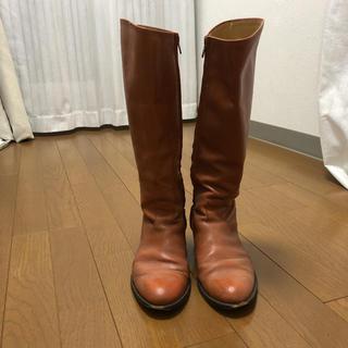 ユナイテッドアローズ(UNITED ARROWS)のロングブーツ  ライトブラウン ジョッキーブーツ(ブーツ)