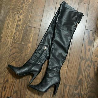 イエローブーツ(Yellow boots)のyello shoesドラゴンスキンニーハイブーツ(ブーツ)