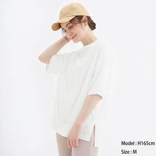 GU - エアリーT(5分袖)NC GU ジーユー 白
