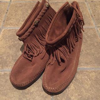 ミネトンカ(Minnetonka)のミネトンカ ブーツ ブラウン 新品未使用 26.0 つんつん様専用(ブーツ)