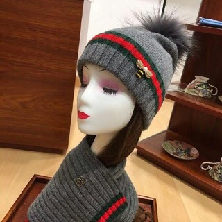 グッチ(Gucci)のgucci帽子マフラーセット(帽子)