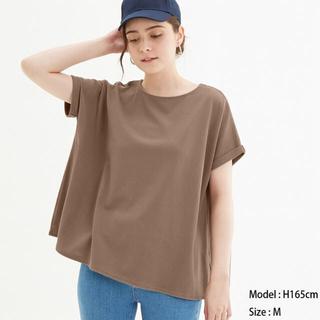 ジーユー(GU)の◆カノコエアリーT(半袖) GU ジーユー ブラウン 茶(Tシャツ(半袖/袖なし))