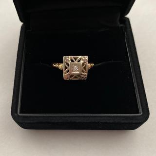アンティーク solid gold 14k ダイヤモンドリング(リング(指輪))