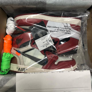 OFF-WHITE AIR JORDAN 1 CHICAGO 希少 23.5(スニーカー)
