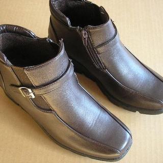 新品【値下げしました】抗菌防臭蓄熱保温加工◆ショートブーツ24.0cmEEE(ブーツ)