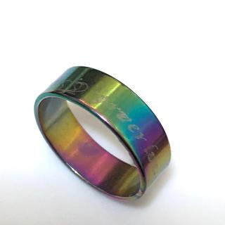 同時購入で300円 ステンレス指輪foreer love(リング(指輪))