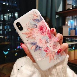 iPhone 7/8 カバー ソフトケース TPU エレガント 傷防止 花柄(iPhoneケース)